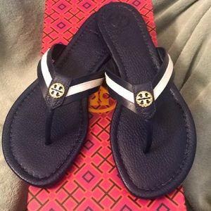8186d6f94e3 Tory Burch Shoes - 🆕 Tory Burch Maritime Thong Navy Sea   White 6.5